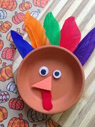 easy thanksgiving craft for kids flower pot saucer turkey