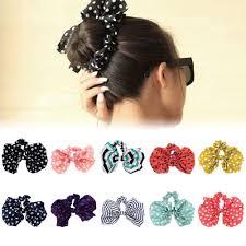 hair holder rabbit ear bow headband ponytail holder hair tie band korean