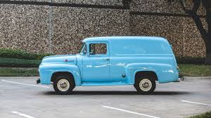 truck ford blue 1956 ford f100 panel truck