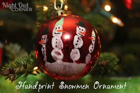 ornament handprint snowman rainforest islands ferry