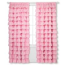 Ruffled Pink Curtains Ruffle Curtain Panel 55x84 Pink Sheringham Road Target