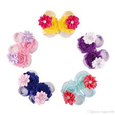Chic Flower 2017 Toddler Baby Sandals Shabby Chic Flower Shoes Cover Barefoot