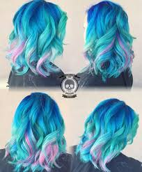 mermaid hair color by rickey zito blue hair turquoise hair pink
