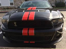 2011 Ford Mustang Black 2011 Ford Mustang Shelby Gt500 Coupe Black With Red Stripes