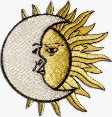 amazon com crescent moon sun embroidered iron on or sew on