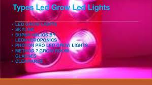 types of grow lights best led grow lights led hydroponics