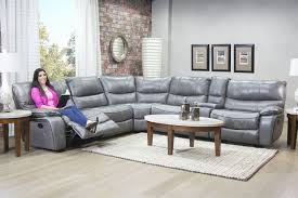 Leather Livingroom Furniture Mor Furniture For Less The Lotus Gray Leather Seating Reclining
