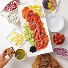 cuisine appetizer cured or smoked salmon appetizer platter recipe eatingwell