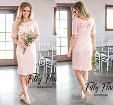 2018 new simple country style full lace a line bridesmaid dresses