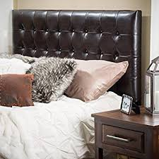 Tufted Leather Headboard Lansing King To Cal King Adjustable Brown Tufted