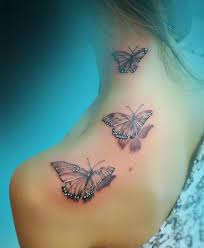 neck to shoulder butterfly tattoos for styles
