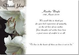 funeral memorial cards thank you card wedding thank you cards for funerals sympathy