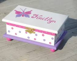 personalized girl jewelry box pink butterfly jewelry box personalized kids jewelry box pink wood