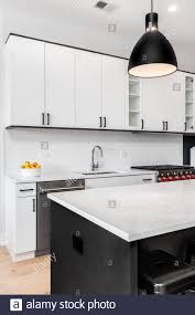 pictures of white kitchen cabinets with black stainless appliances a modern kitchen with black and white cabinets stainless