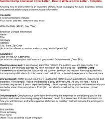 Camp Counselor Job Description For Resume camp leader cover letter