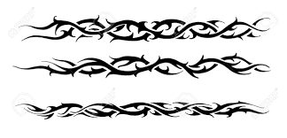 sketch of a black tribal bracelet stock photo picture