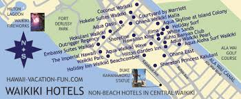 map of waikiki non waikiki hotels deals details in central waikiki