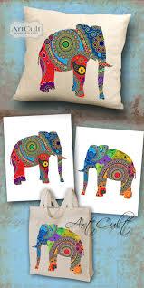 paisley elephants 2 digital sheets printable images to print on