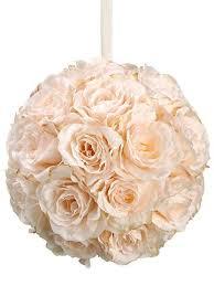 Flower Ball Kissing Balls Wedding Pomander Balls Wedding Decorations