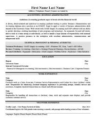 Sample Business Administration Resume by Accounting Business Administration Resume Template Premium
