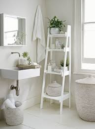 Bathroom Storage Ladder Space Creating Ideas Bathrooms White Company Shelves And