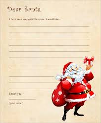 santa letters templates santa letter santa letter template free