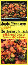 cranberry side dish thanksgiving maple cinnamon roasted butternut squash with brussel sprouts