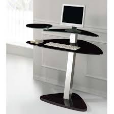 small black computer desk black glass computer desks for home small glass computer desk