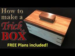 Free Wooden Keepsake Box Plans by Woodworking How To Make An Awesome Trick Box Free Plans Youtube