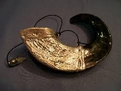anointing horn yemenite and rams horn anointing shofar