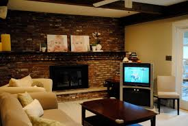 Living Room With Stairs by Living Room Living Room With Brick Fireplace Decorating Ideas