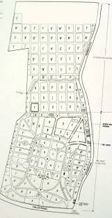Grid Map City Cemetery Grid Map