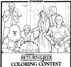 return of the jedi coloring pages mediafoxstudio com