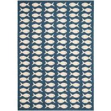 Navy Outdoor Rug Coastal Outdoor Rugs Rugs The Home Depot