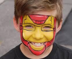 iron man face painting borman pta pinterest iron man face