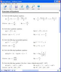vaxasoftware worksheets generators for maths and chemistry