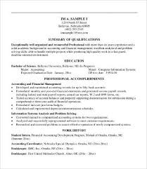 Summary Resume Sample by Professional Resume Examples 8 Free Word Pdf Documents