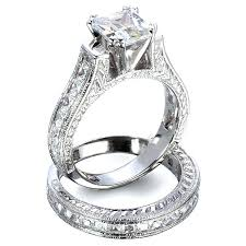 bridal sets rings silver wedding sets rings blushingblonde