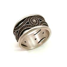 mens art deco ring sterling silver by swankmetalsmithing on etsy