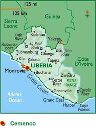 Liberia Map Heidelbergcement Expands Its Cement Capacity In Liberia