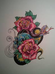 snake roses and skull steve gutierrez studies