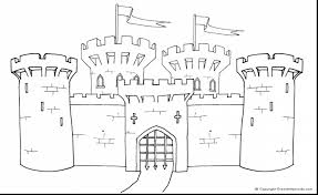 Great Medieval Castle Coloring Pages With Castle Coloring Pages Coloring Pages Castles