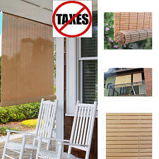 Roll Up Patio Blinds by Outdoor Bamboo Shades Ebay