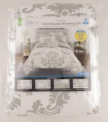 Mainstay Comforter Sets Mainstays Classic Noir Bed In A Bag Bedding Set Walmart Com