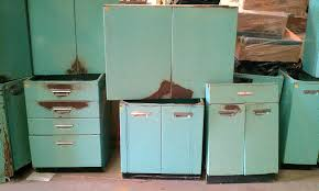 Metal Cabinets For Kitchen Retro Metal Kitchen Cabinets On 1950s Youngstown Kitchen Sink