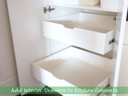 kitchen cupboard with drawers add interior drawers to kitchen cabinets cape27blog