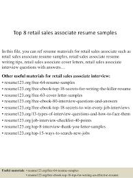 sales associate resume top 8 retail sales associate resume sles 1 638 jpg cb 1430038736