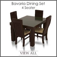 Dining Set With 4 Chairs Luxurious 4 Seater Dining Set Four Table And Chairs On Cozynest Home