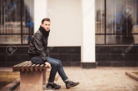 Bench Photography Fashion Male Model On The Bench Stock Photo Picture And Royalty