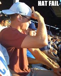 Hat Meme - idiots with backwards hats on trying to block the sun